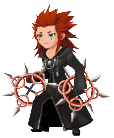 Axel, as seen during the data rematch fight of the New Organization XIII Event in August 2018.
