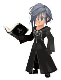 Zexion, as seen during the data rematch fight of the New Organization XIII Event in June 2018.