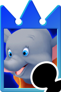 Sprite of the Dumbo card from Kingdom Hearts Re:Chain of Memories.