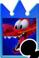 Sprite of the Mushu card from Kingdom Hearts Re:Chain of Memories.
