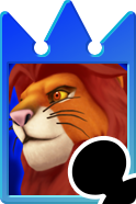 Sprite of the Simba card from Kingdom Hearts Re:Chain of Memories.