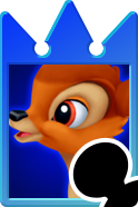 Sprite of the Bambi card from Kingdom Hearts Re:Chain of Memories