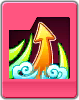 Sprite of the sixth Flick Rush attack card from Dream Drop Distance.