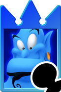 Sprite of the Genie card from Kingdom Hearts Re:Chain of Memories.