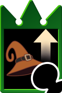 Sprite of the Sorcerous Waking card from Kingdom Hearts Re:Chain of Memories.