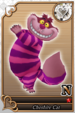 Cheshire Cat card (card 217) from Kingdom Hearts χ