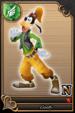 Goofy card (card 64) from Kingdom Hearts χ