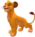 Simba (Young) (Idle Render) KHII.png