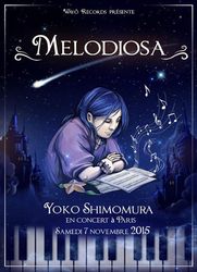 A poster of a 2015 event honoring Yoko Shimomura