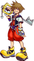 Sora in Kingdom Hearts