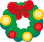 """The Wreath<span style=""""font-weight: normal"""">&#32;(<span class=""""t_nihongo_kanji"""" style=""""white-space:nowrap"""" lang=""""ja"""" xml:lang=""""ja"""">リース</span><span class=""""t_nihongo_comma"""" style=""""display:none"""">,</span>&#32;<i>Rīsu</i><span class=""""t_nihongo_help noprint""""><sup><span class=""""t_nihongo_icon"""" style=""""color: #00e; font: bold 80% sans-serif; text-decoration: none; padding: 0 .1em;"""">?</span></sup></span>)</span> ornament of the 2014 Christmas event"""