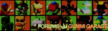 Forumheader image for Gummi Garage.