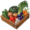 The vegetables ingredient sprite