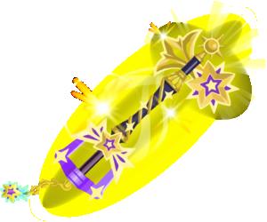 "The final upgrade of the Starlight<span style=""font-weight: normal"">&#32;(<span class=""t_nihongo_kanji"" style=""white-space:nowrap"" lang=""ja"" xml:lang=""ja"">スターライト</span><span class=""t_nihongo_help noprint""><sup><span class=""t_nihongo_icon"" style=""color: #00e; font: bold 80% sans-serif; text-decoration: none; padding: 0 .1em;"">?</span></sup></span>)</span> Keyblade."
