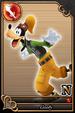 Goofy card 65 from Kingdom Hearts χ