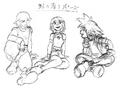 Sora, Kairi, and Riku (Concept Art).png