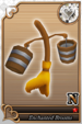 Enchanted Brooms card (card 198) from Kingdom Hearts χ