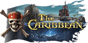 Logo for the Pirates of the Caribbean-based world The Caribbean