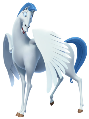 Official render for Pegasus in Kingdom Hearts III