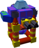 The Atomos B Gummi Ship enemy model, used both in the original and Final Mix version despite the A enemy model looking different.
