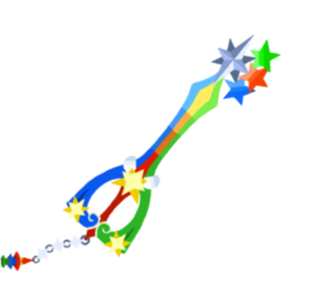 The yet to be released first upgrade of the Fairy Stars Keyblade.