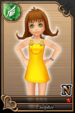 Selphie card (card 140) from Kingdom Hearts χ