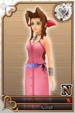 Aerith card (card 227) from Kingdom Hearts χ