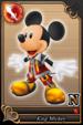 King Mickey card (card 80) from Kingdom Hearts χ