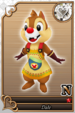 Dale card (card 195) from Kingdom Hearts χ