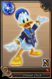 Donald Duck card (card 48) from Kingdom Hearts χ