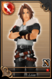 Leon card (card 135) from Kingdom Hearts χ