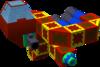 The Lamia C Gummi Ship enemy model