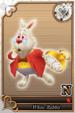 White Rabbit card (card 221) from Kingdom Hearts χ