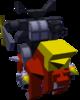 The Odin B Gummi Ship enemy model