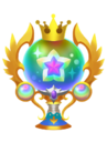 The Critical Praise Trophy from Kingdom Hearts 3D.