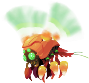 the orange candy aerial Cy-Bug appearance from Quest 963 onward