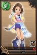 Yuna card (card 157) from Kingdom Hearts χ