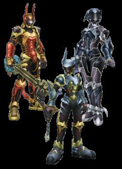 Terra, Aqua, and Ven's Armors KHBBS.png