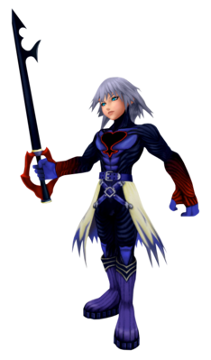 Riku with the Keyblade of heart
