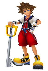 Data Sora from Kingdom Hearts Re:coded.