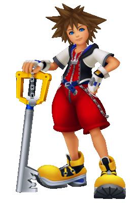 Data Sora from Kingdom Hearts Re:coded.
