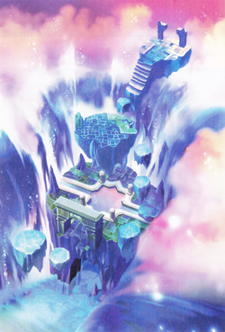 Official artwork of the Rising Falls from the Visual Artbook.
