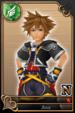 Sora card (card 15) from Kingdom Hearts χ