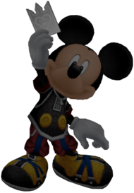 King Mickey as he appears in Halloween Town in Kingdom Hearts Re:Chain of Memories.