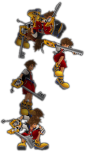 The High Jump sequence in Kingdom Hearts Re:Chain of Memories.