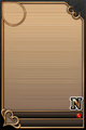 an empty N upright card