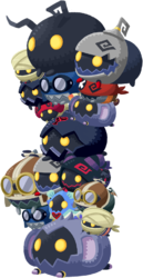 """The Heartless Tsums<span style=""""font-weight: normal"""">&#32;(<span class=""""t_nihongo_kanji"""" style=""""white-space:nowrap"""" lang=""""ja"""" xml:lang=""""ja"""">ハートレスツム</span><span class=""""t_nihongo_comma"""" style=""""display:none"""">,</span>&#32;<i>Hātoresu Tsumu</i><span class=""""t_nihongo_help noprint""""><sup><span class=""""t_nihongo_icon"""" style=""""color: #00e; font: bold 80% sans-serif; text-decoration: none; padding: 0 .1em;"""">?</span></sup></span>)</span> boss from the multiplayer event."""