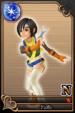 Yuffie card (card 126) from Kingdom Hearts χ
