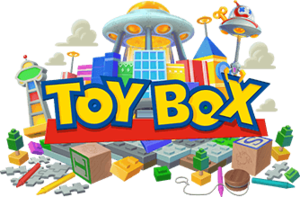 Logo for the Toy Story-based world Toy Box