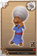 The Peddler card (card 216) from Kingdom Hearts χ